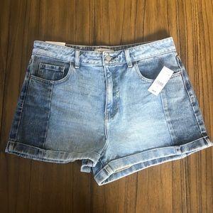PAC Sun high rise mom shorts rolled hem 2 toned